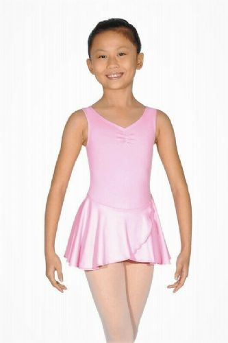 Roch Valley Sleeveless Leotard with Wrap Skirt Microfibre Pink Dance Baby Ballet